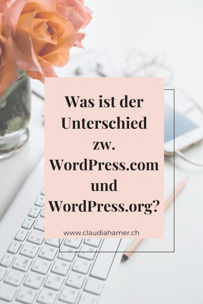 Unterschied WordPress.com und WordPress.org