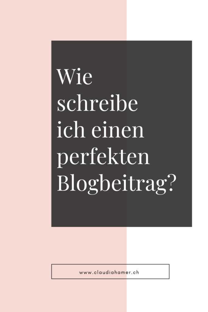 Wie schreibe ich einen perfekten Blogbeitrag