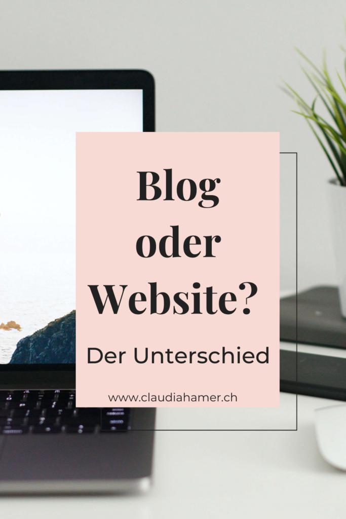 Unterschied Blog oder Website