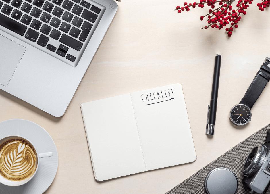 """Blogbeitrag Checkliste: Überprüfe diese 12 Punkte, bevor du auf """"veröffentlichen"""" drückst"""