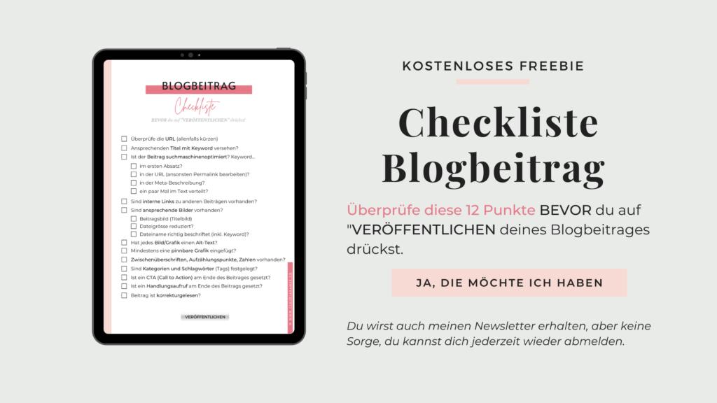Kostenloses Freebie Blogbeitrag