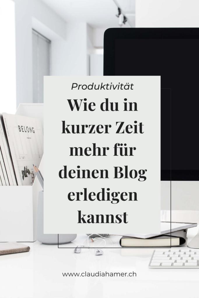 Produktiv bloggen